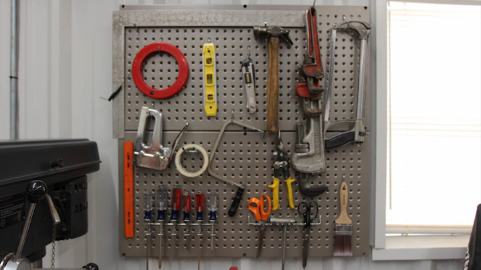 metal pegboard for organizing