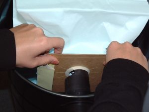 Remove paper bag